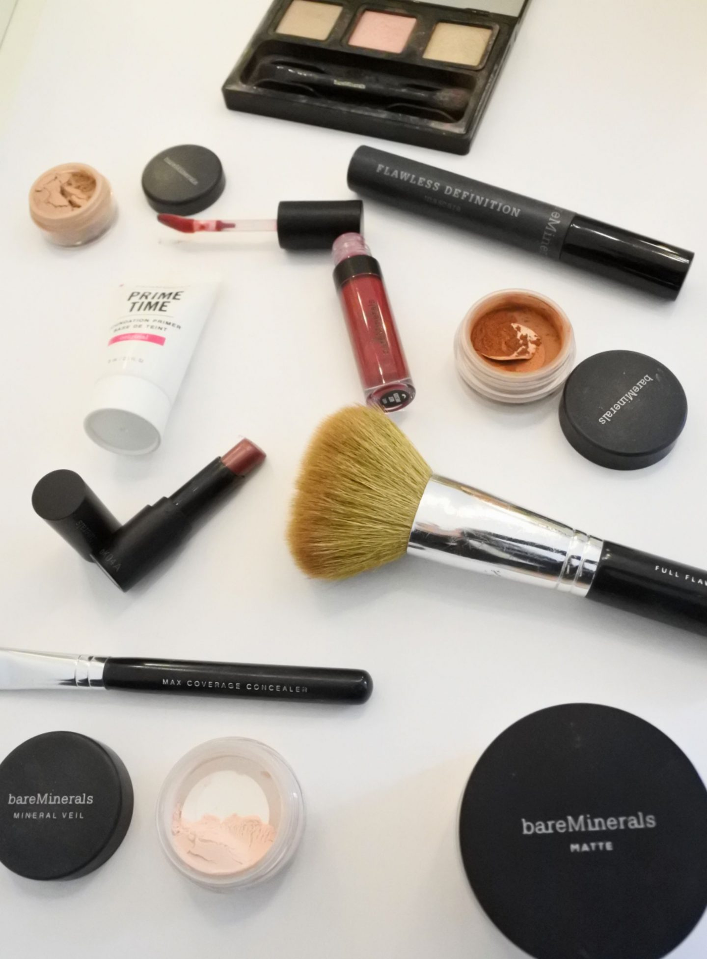 full face of bareminerals glam makeup