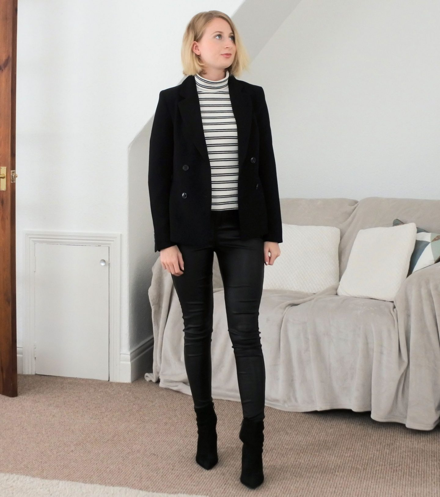styling coated jeans