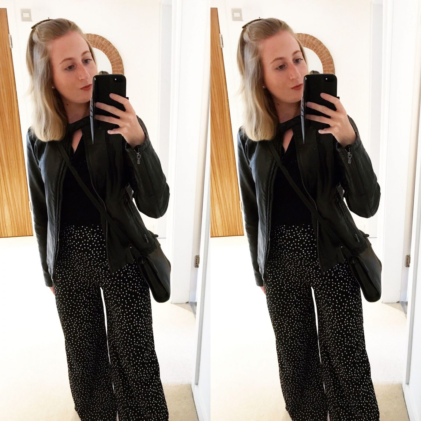 styling polka dot trousers